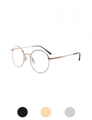 64简单圆形钢架眼镜(